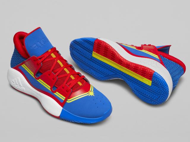 newest cf8b7 12bb5 Marvel s Captain Marvel x Adidas Pro Vision