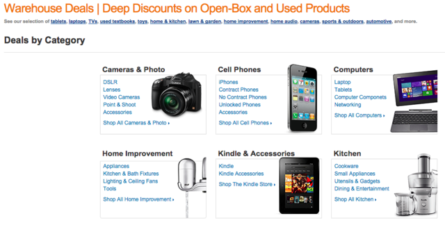 Get a discount on used and returned electronics from Amazon Warehouse