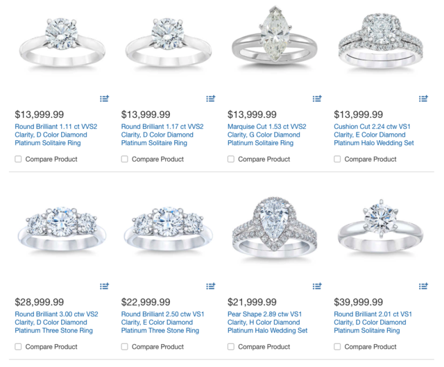 afccc3d0 At Costco, you can browse through a large selection of diamond engagement  rings in different styles and sizes. Prices vary from affordable to  extravagant ...