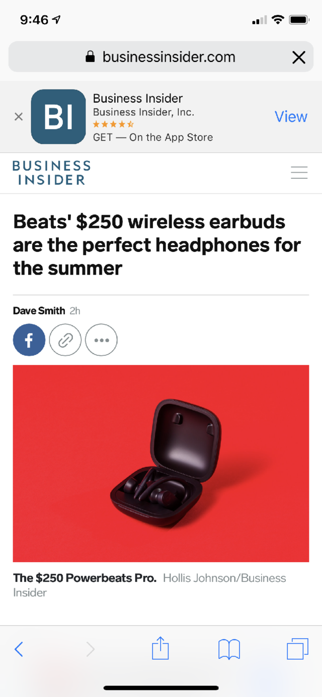 "Okay, I'm on Business Insider.com, the best website there is. I'm on this ridiculously good story written by some handsome devil, but let's say I want to find the word ""Apple"" in this article."