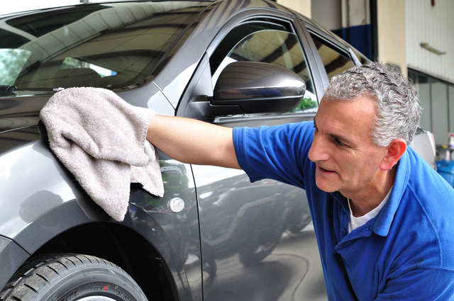 7. Dry it off. I keep half a dozen ratty old towels around for this purpose. Get you car dried off quickly, but don't overdo it, as you can scratch the surface. If you want to get serious, you can use a microfiber towel, designed specifically for car drying.