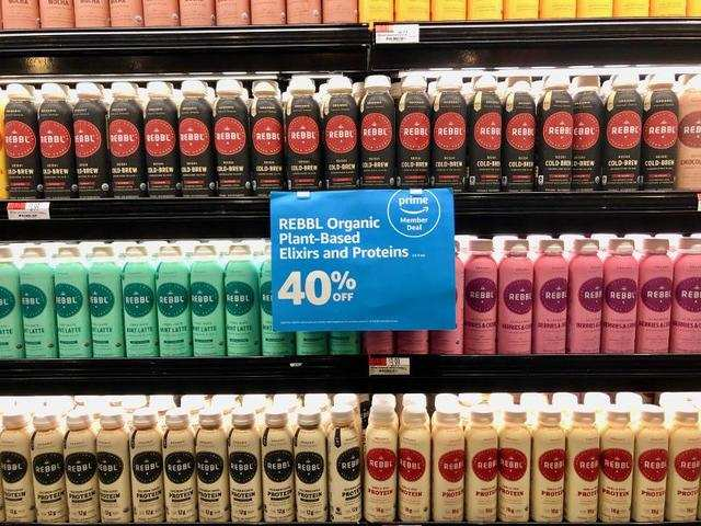 ... like these protein shakes and plant-based cold brew drinks, which were 40% off for Prime members.