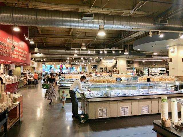 There was a massive hot food section that took up a large section of the store.