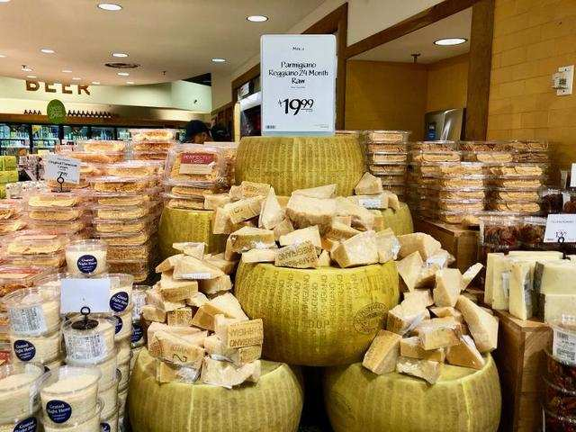 Overall, Whole Foods had a fancier feeling to it. This huge display of cheese seemed a little over the top, though.