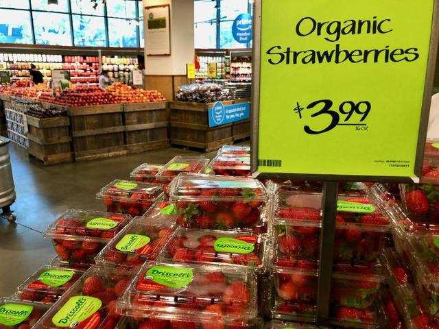 There did seem to be more organic options overall — but there was a higher cost for those who opted for that.