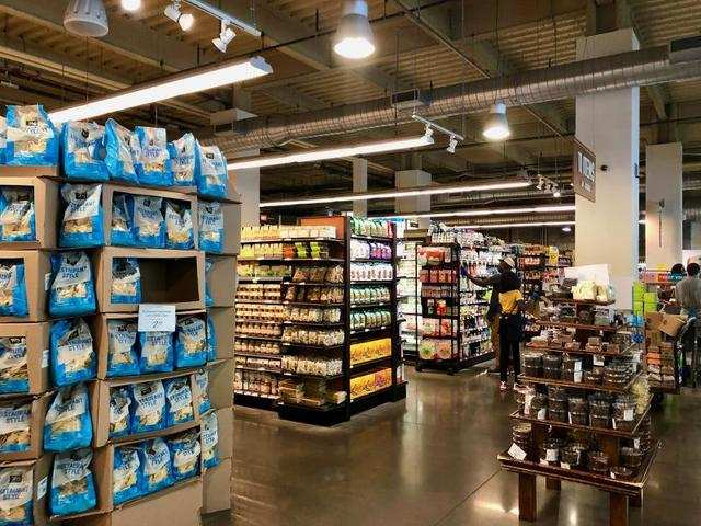 At first glance, the store didn't reveal how large it actually was. We had to venture through a few aisles until we realized how many different sections there were.