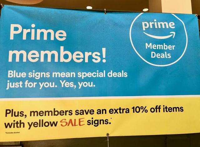 "Right away, we were notified that Prime members were eligible for certain deals throughout the store, making part of the store experience feel like a ""members-only"" club."
