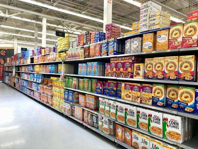 The selection was beyond our wildest dreams. This cereal aisle seemed to carry every cereal ever made.