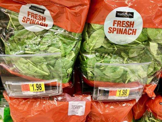 These bags of fresh spinach for less than $2 each were a dream come true.