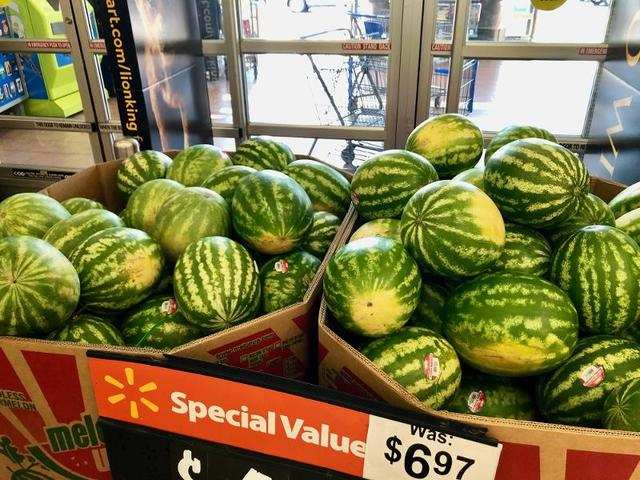We knew we were in for a unique experience when we were greeted by two huge bins of seasonal watermelon at the store's entrance. We hardly even had a moment to take in the store before we noticed them.