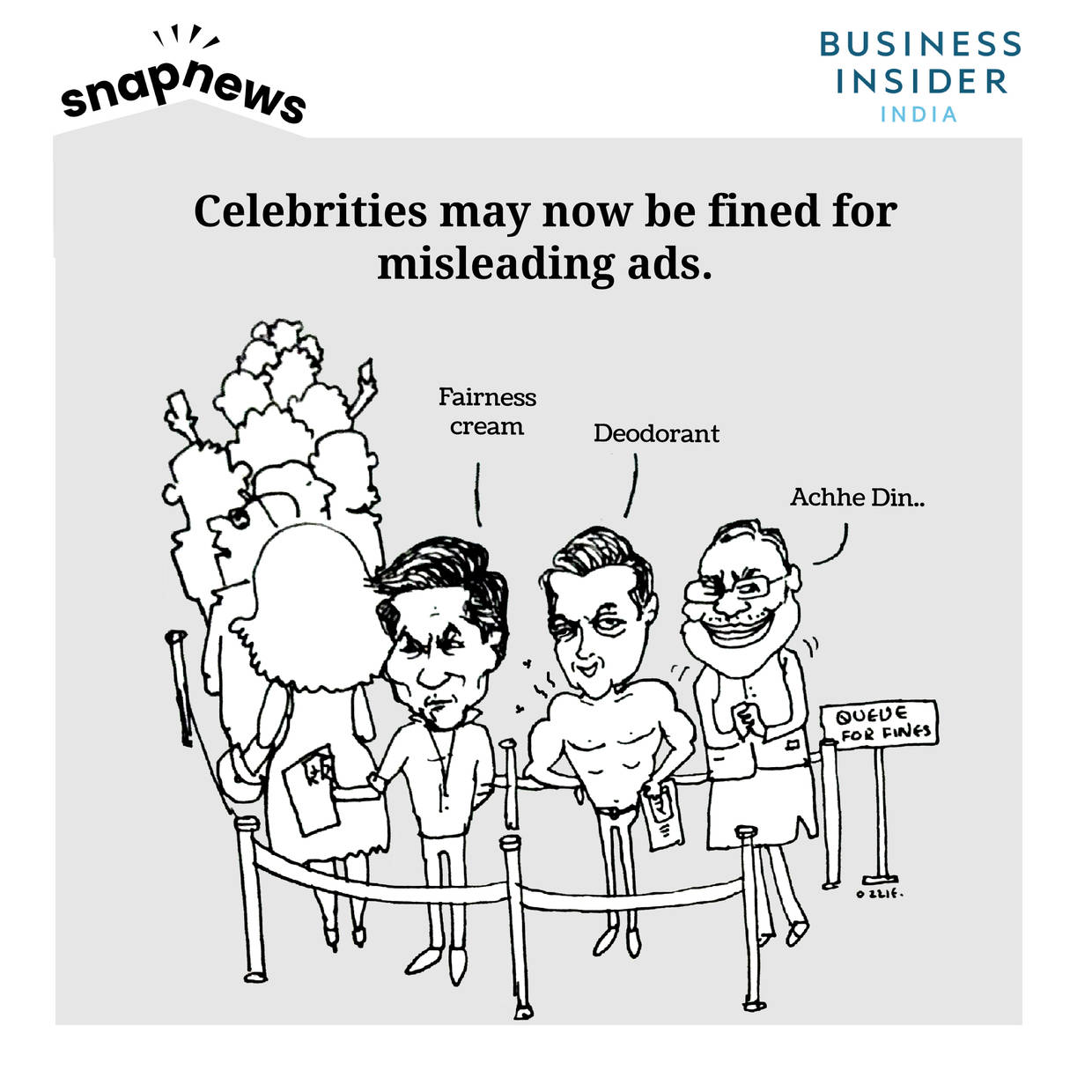 Indian government will fine celebrities for fake and misleading ads