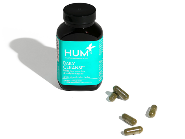 A supplement that contains detoxifying ingredients like organic algae and beetroot