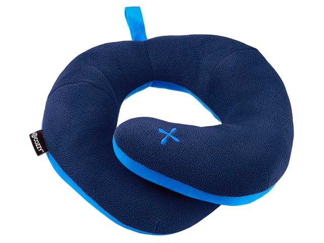 A travel pillow with chin support