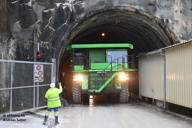 This massive 121-ton electric dump truck never uses more