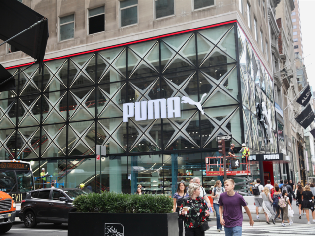 We visited the Nike, Adidas, and Puma flagship stores to see