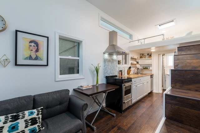 1. This San Jose tiny house comes with a full chef's kitchen.