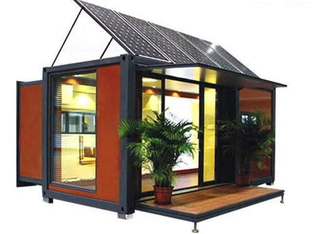 For an even more unique look — but still that same, simplistic tiny home feel — Chinese company Weizhengheng specializes in container homes that can easily expand and shrink to be customizable for a variety of uses.