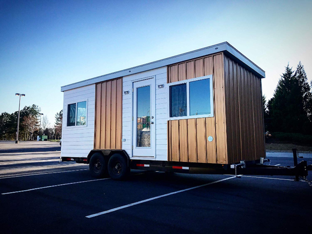 But if you're not looking to undergo a major construction project when you get a tiny home, Amazon also sells other types of tiny homes that come as-is, including numerous trailer tiny houses on wheels that are made for easy traveling.