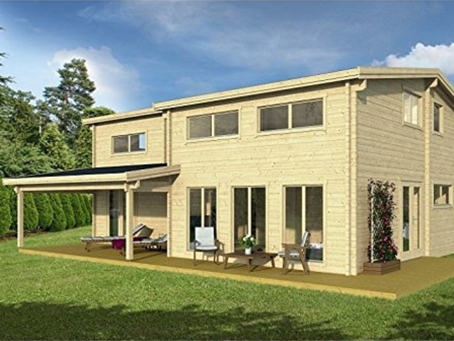 Even this large 1,330-square foot Allwood Eagle Vista model costs less than buying a house would generally cost. At $65,650, this home has enough space to fit multiple bedrooms and living areas.