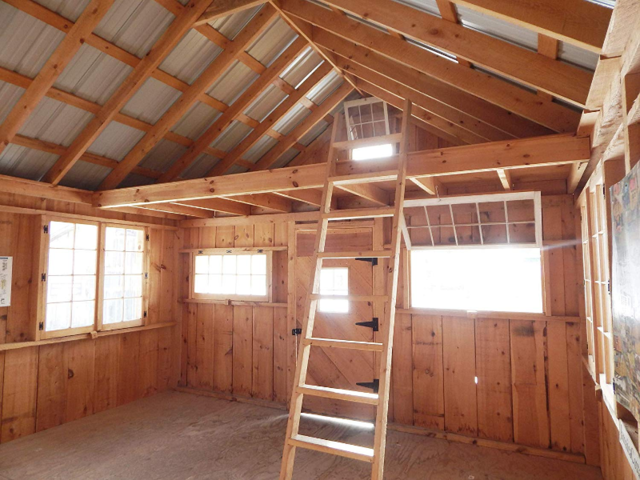 Many of these homes with lofted areas advertise the smaller space as a bedroom, accessible via a ladder.