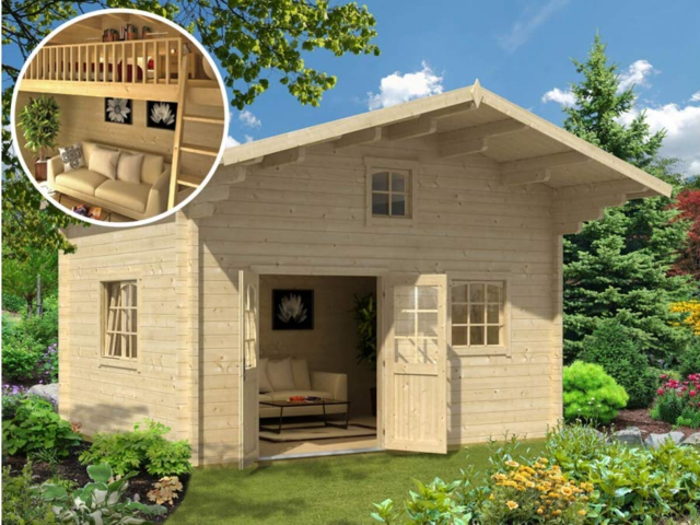 Some of these tiny homes comes with raised loft areas, tucked into the triangular area where the roof slopes down, to make the most of the small amount of square footage.