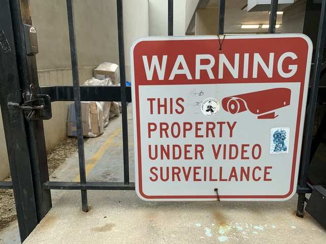 "On my journey through the ""surveillance state"", I came across several signs warning the public they were being watched."