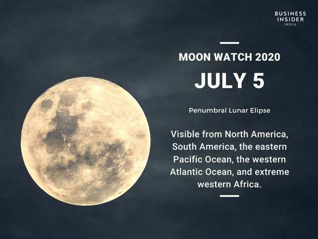 A month later, the third lunar eclipse will occur on July 5, 2020