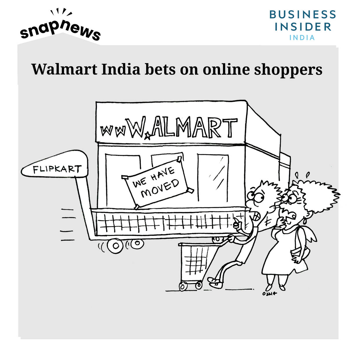 Walmart sheds brick and mortar weight as it plans to go online with Flipkart