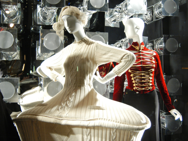 International museums have showcased his work. In 2011, Montreal Museum of Fine Arts collaborated with the designer for the 'The Fashion World of Jean Paul Gaultier: From the Sidewalk to the Catwalk.' exhibit.