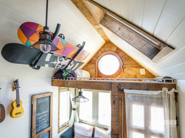 """Utilizing the space in between rafters and in the corners of the room for storage is also a good idea,"" she added."
