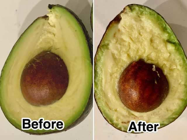 The hack works great for preserving the fruit's ripeness — as long as you don't mind digging into a mushier avocado.