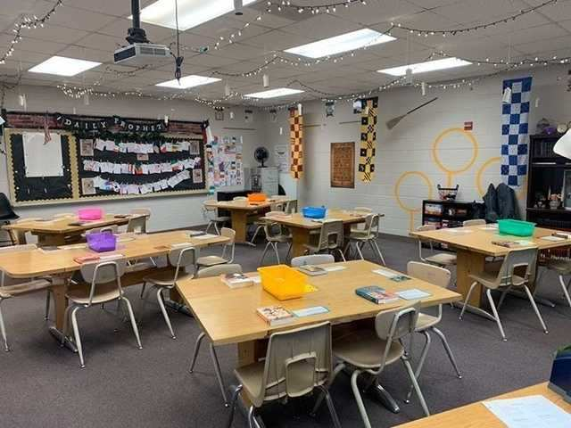 Cydni Banner, a high school English teacher in Midland, Texas, had to completely reorganize her classroom for the anticipated in-person school year.