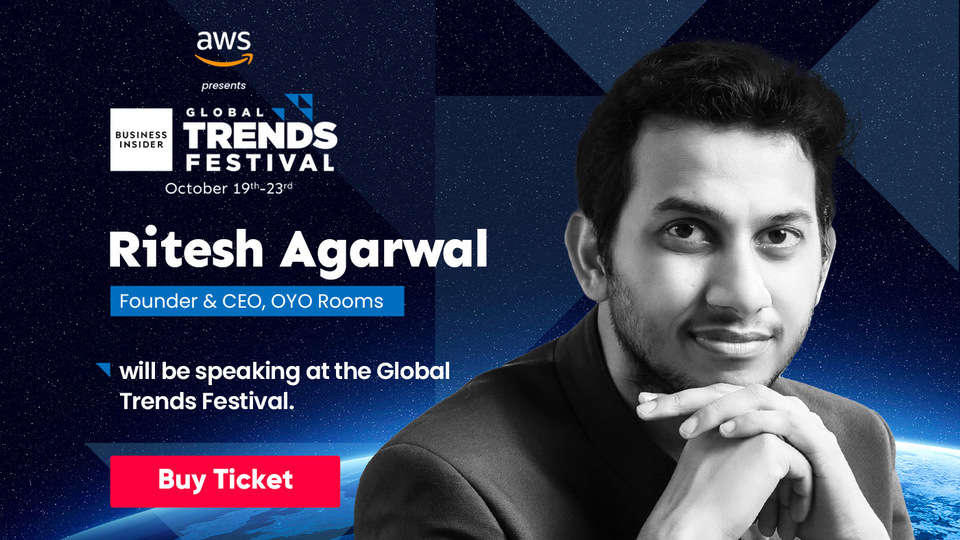 Watch out for OYO's billionaire founder Ritesh Agarwal talking tech at Global Trends Festival 2020
