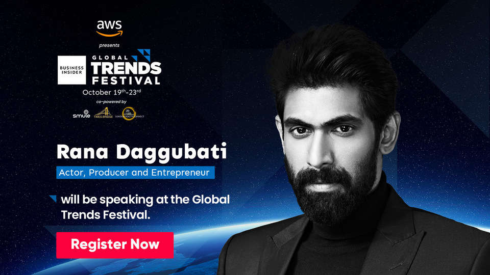 Don't miss Rana Daggubati speak about the future of storytelling at the Global Trends Festival 2020