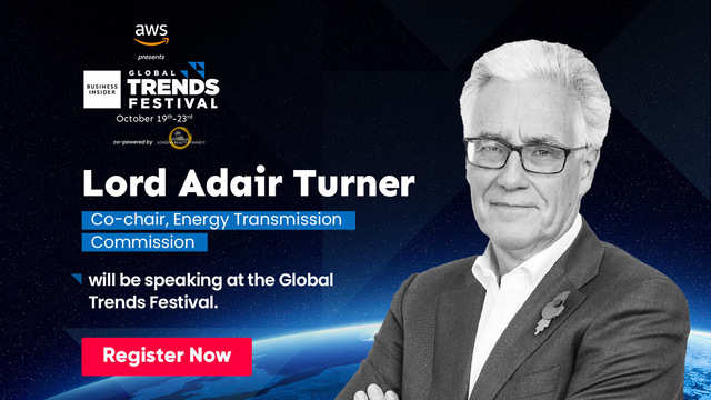 Catch Lord Adair Turner, the technocrat who is devising ways and means to move towards a zero-carbon economy, at the Global Trends Festival 2020