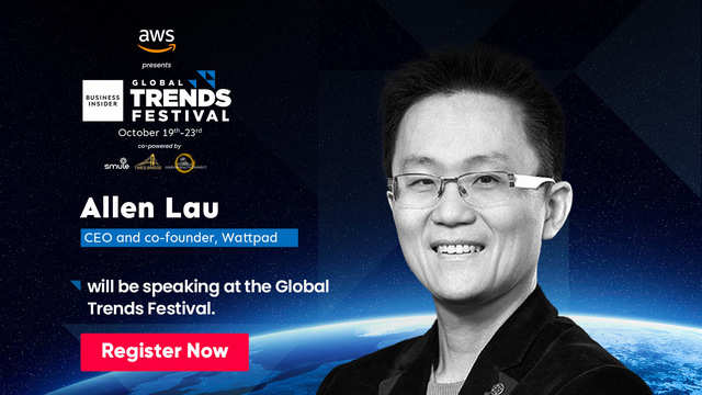 Catch Allen Lau talk about ushering in the new age of storytelling at the Global Trends Festival 2020