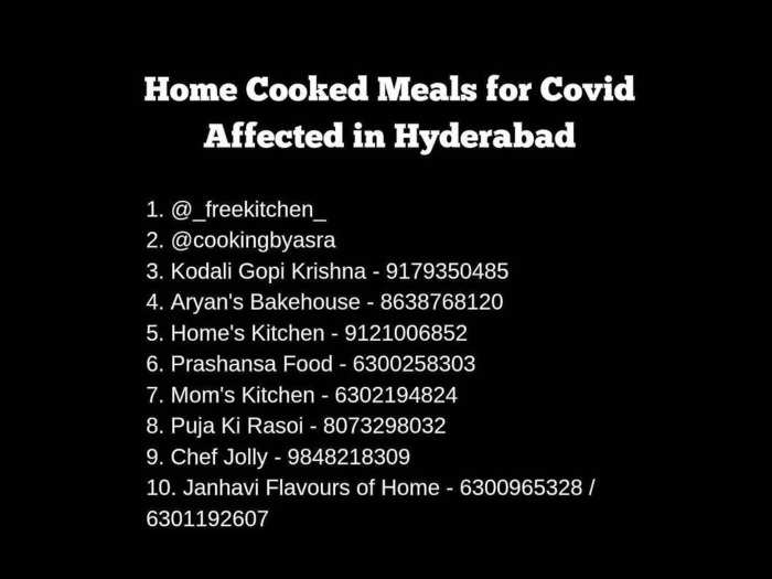 Home cooked meals in Hyderabad