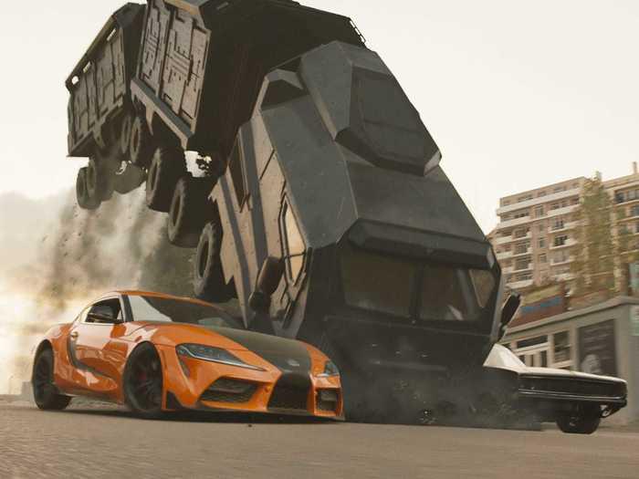 Han returns in an orange A90 Toyota Supra.