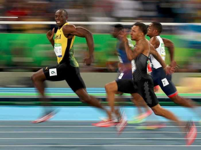 It's too easy for Usain Bolt.