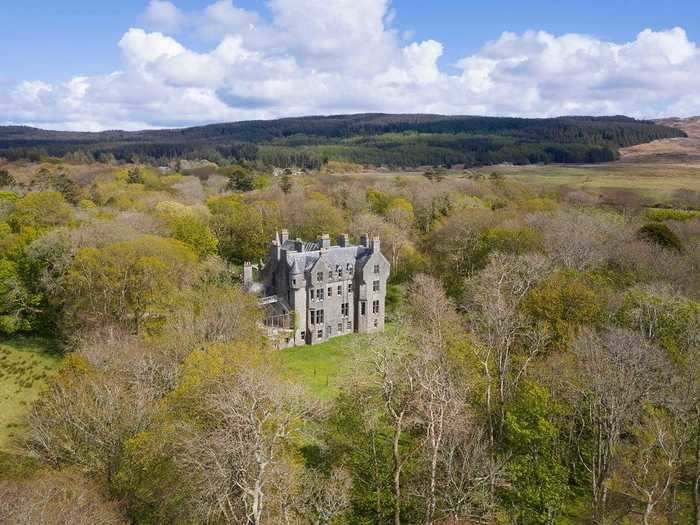 500-year-old Kilberry Castle in Scotland is on the market for $885,106 (£650,000).