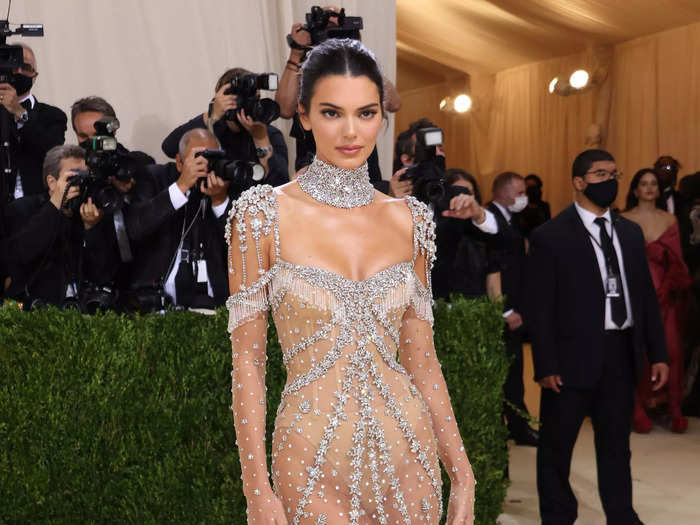 Kendall Jenner wore the ultimate naked dress by Givenchy at the Met Gala on Monday night.