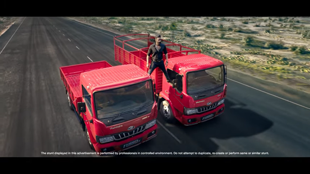 Ajay Devgn performs his iconic stunt for Mahindra FURIO 7 range