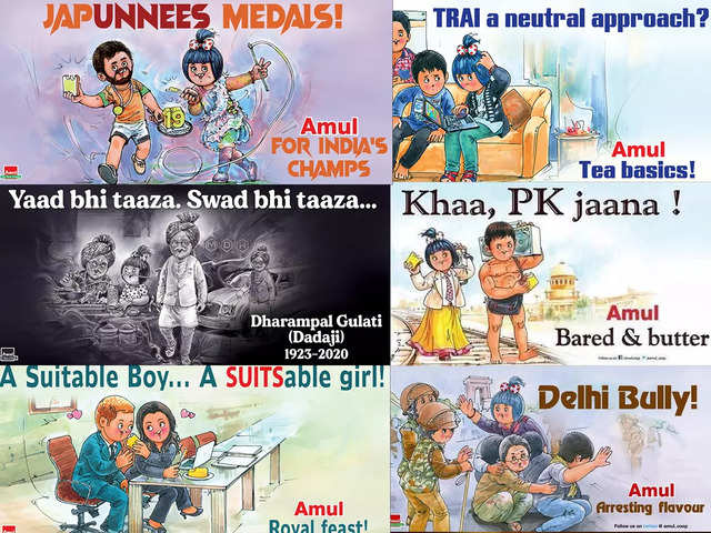 15 topical Amul advertisements from the last 20 years that won our hearts