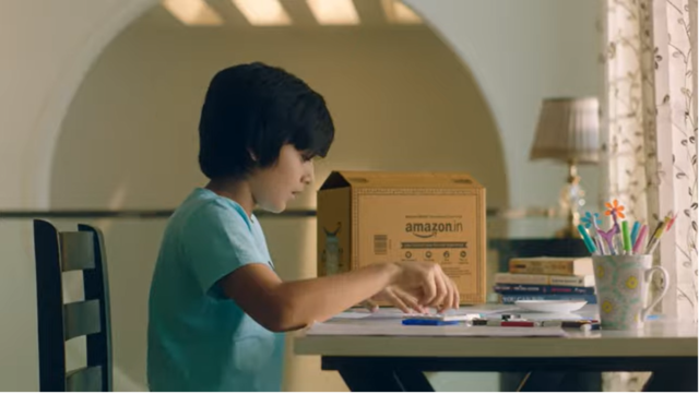 Amazon's campaign encourages customers to thank its associates and share their happiness with frontline teams