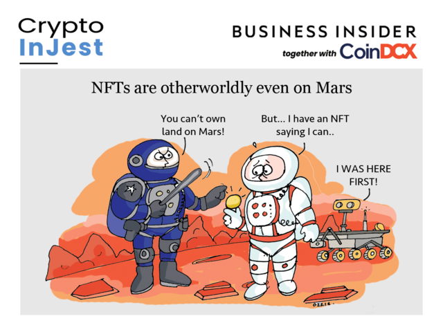 This Ethereum-based metaverse is letting crypto fans own land on the Red Planet, even though international space laws would disagree