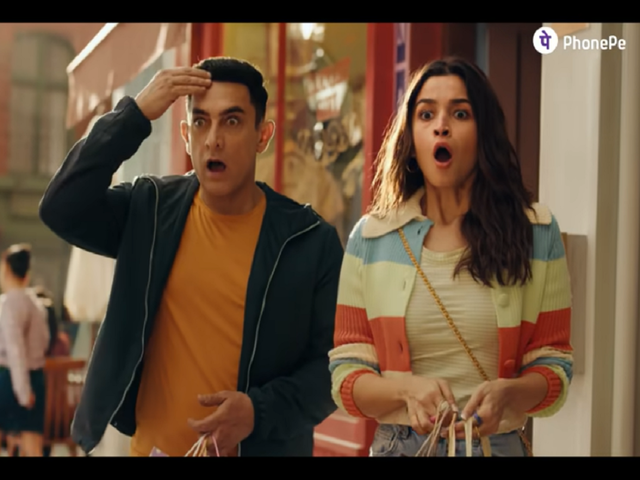 PhonePe's new campaign featuring Aamir Khan and Alia Bhatt showcases the ease of buying insurance on the platform
